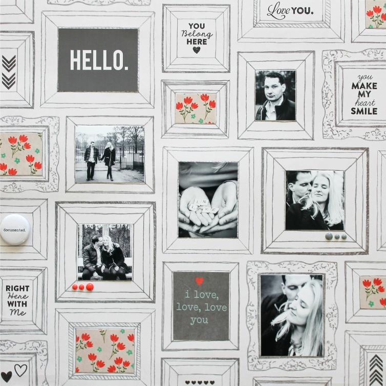 Hello. I love, love, love you | Scrapbooking Layout
