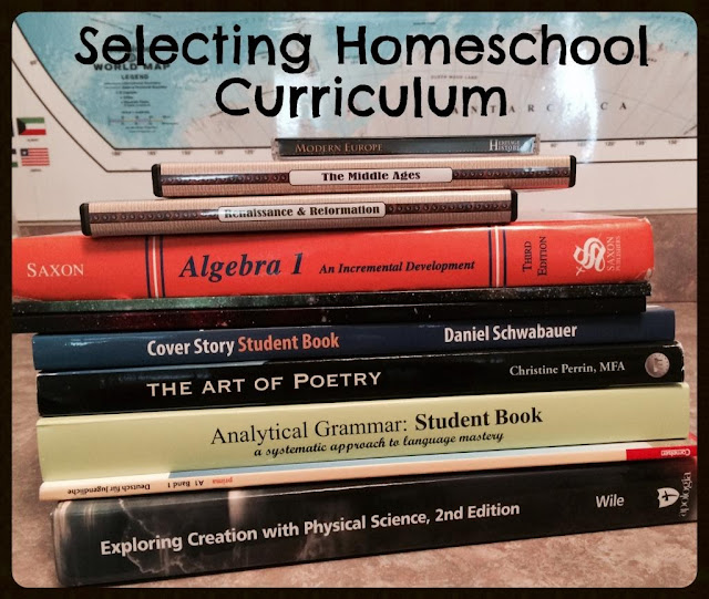 Unexpected Homeschool: Selecting Homeschool Curriculum