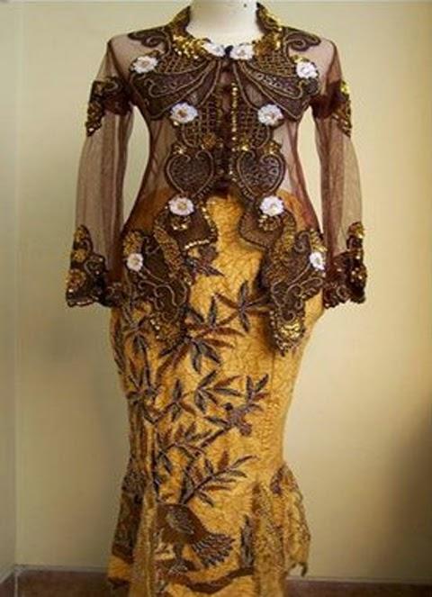 model baju kebaya modern orang gemuk 2016