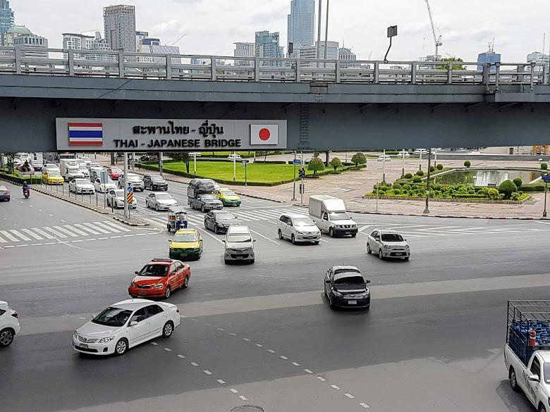 從 BTS Sala Daeng 前往公園,泰國與日本橋?