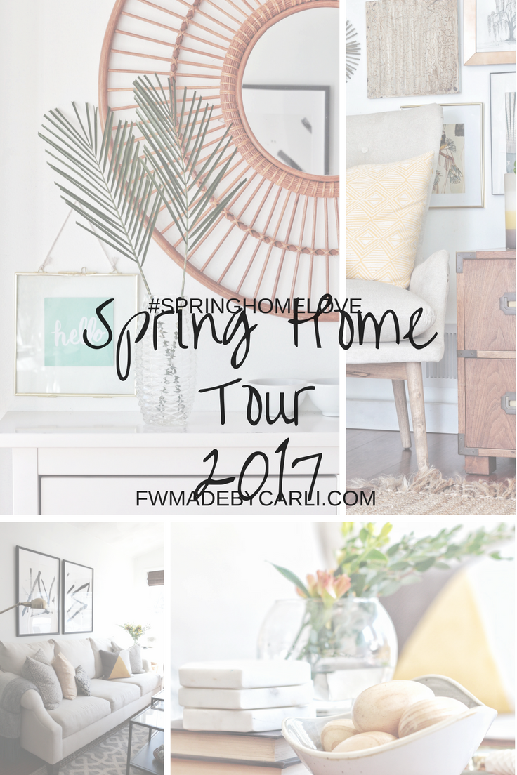 Modern-transitional Spring home tour 2017