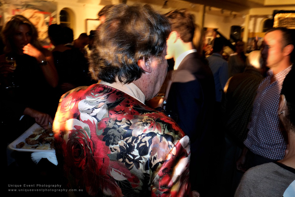 Charles mingles with guests at The Billich Gallery 30th Anniversary 'Erotica' Party - Photographed by Kent Johnson for Unique Event Photography.