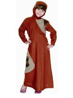 Gamis batik muslim kombinasi
