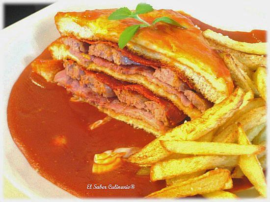 Francesiña o sándwich de Oporto