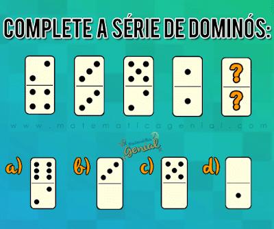Desafio: Complete a série de dominós