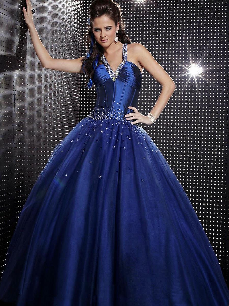 Dam Brinoword Wedding Dress Cute Royal Blue