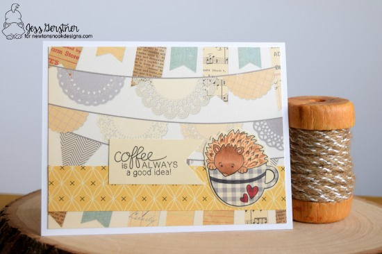 Coffee Card by Jess Gerstner featuring Newton's Nook Designs Hedgehog Hollow