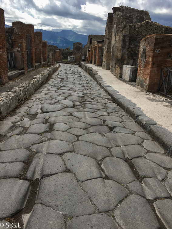 Calles de Pompeya, las ruinas de la ciudad romana