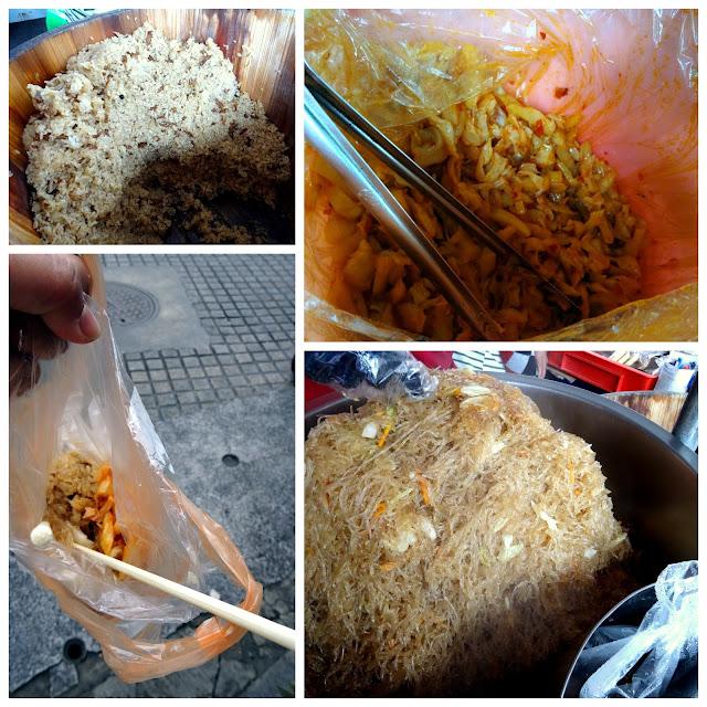 Sticky Rice + Glass Noodles + Pickled Cabbage