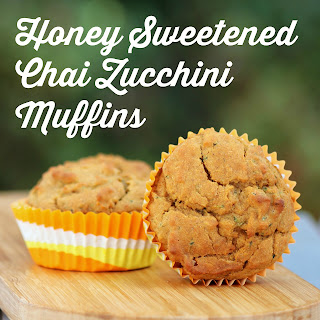 Honey Sweetened Chai Zucchini Muffins Recipe