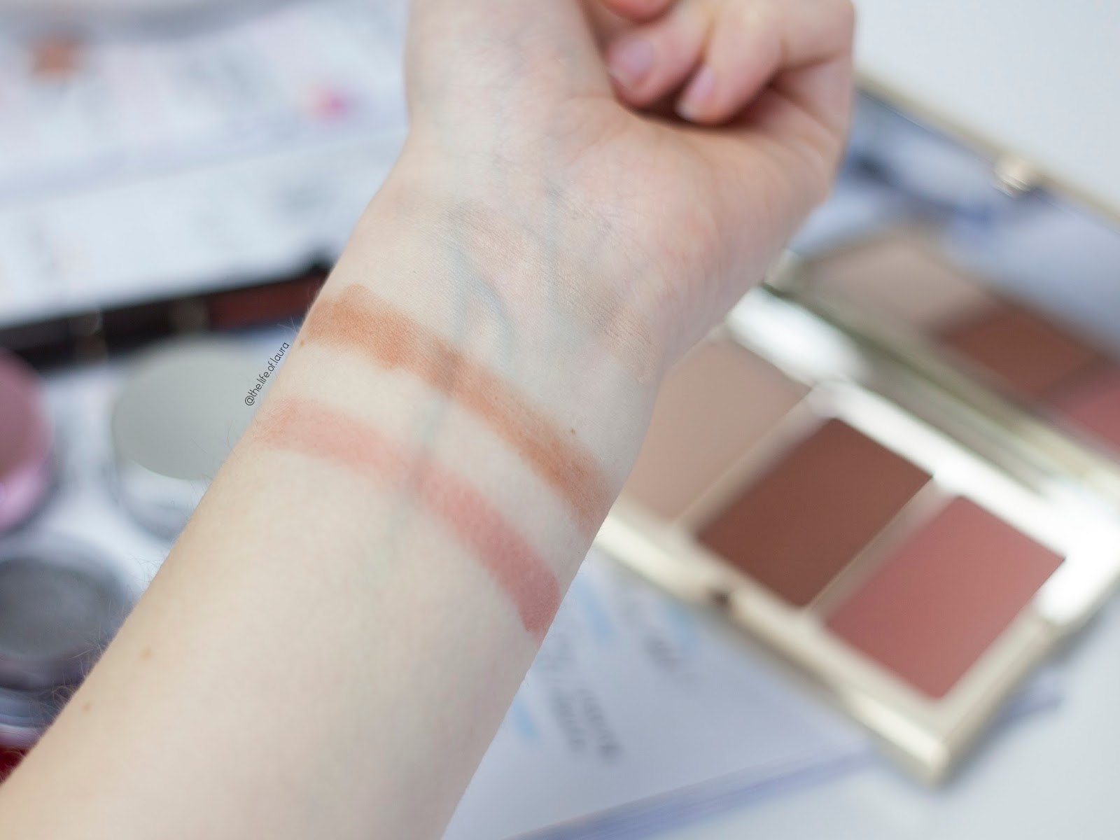 Clarins Spring Make Up Face Contouring Palette Swatches