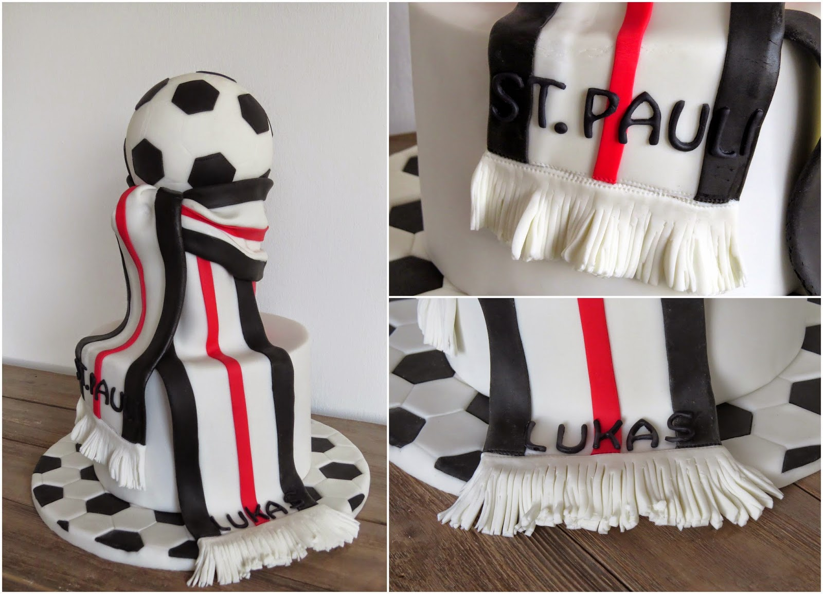Fußballkuchen St. Pauli