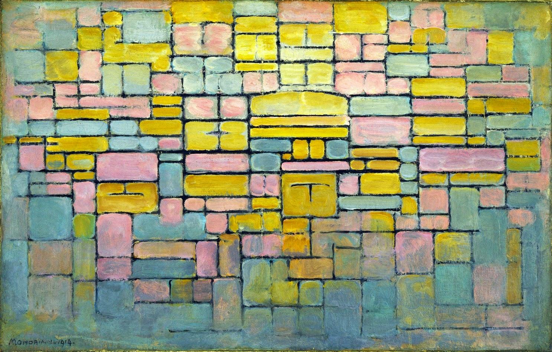 Tabela N° 2 Composição V - Piet Mondrian e Suas Pinturas | Criador do Neoplasticismo