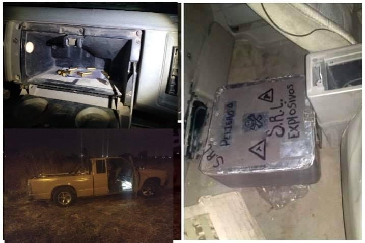 Aseguran camioneta con explosivos en Celaya, al parecer eran del Cartel de Santa Rosa de Lima del Marro