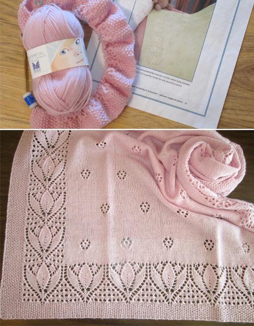 Tulips & Rosebuds Baby Blanket - Free Pattern