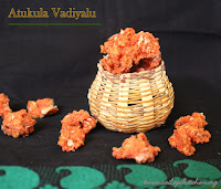 images of Atukula Vadiyalu / Aval Vadam / Andhra Style Aval Vadam / Poha Fryums - Vadam / Vathal Recipes