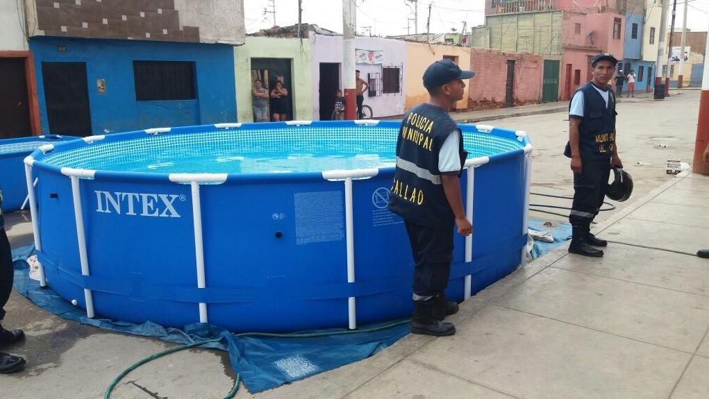El reportero vecinal municipalidad del callao aplico for Albercas portatiles