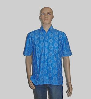 Baju Batik Pria [H1289] Biru