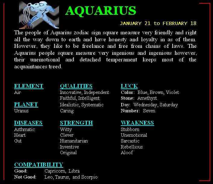 Astrology aquarius compatibility