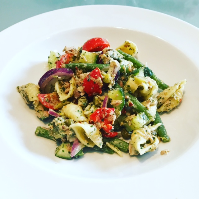 Tuna, Pasta & Pesto Salad