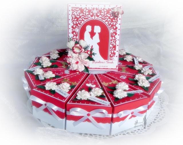 papierowy tort, tort z papieru, prezent dla mężczyzny, nietypowy prezent, prezent na ślub