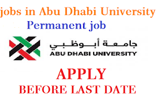 JOBS IN ABU DHABI UNIVERSITY DUBAI-2019 - DUBAI CAREER| Dream jobs