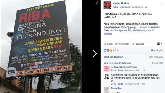 Baliho Iklan Perumahan Kutip Hadis Soal Riba di Temanggung ini Tuai Kontroversi