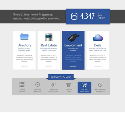 Datacenter Hosting Web Template PSD