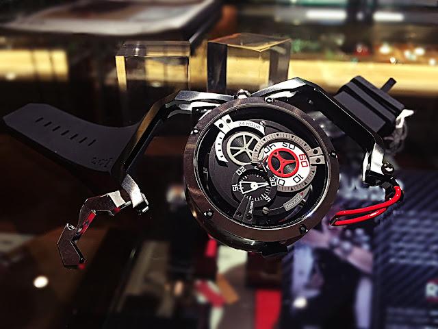 ファッション 時計 デザイン マルチ ウォッチ MAZZUCATO 自動巻き クロノグラフ リバーシブル かっこいい 男性向け ホイール 斬新 話題