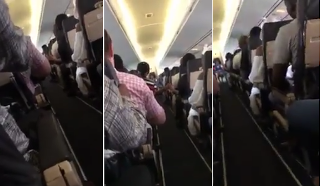 Video: Frightened Air Passengers Praying & Speaking In Tongues For Their Lives As Their flight About To Crash