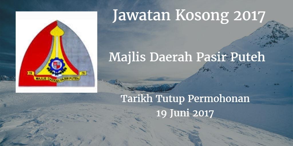 Jawatan Kosong Majlis Daerah Pasir Puteh 19 Juni 2017