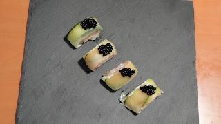 Rollito estilo Sushi de Calabacin y Salmón