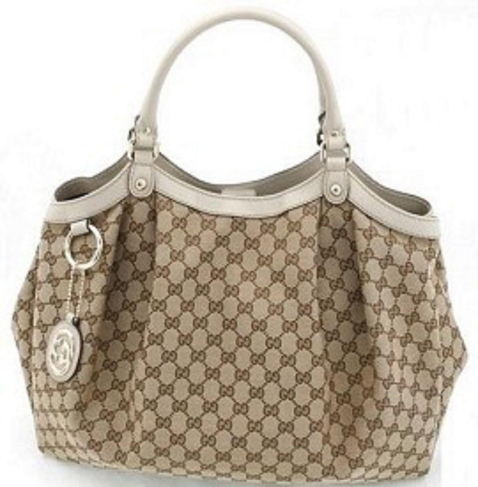 Gucci Sukey Large Tote Bag Beige White