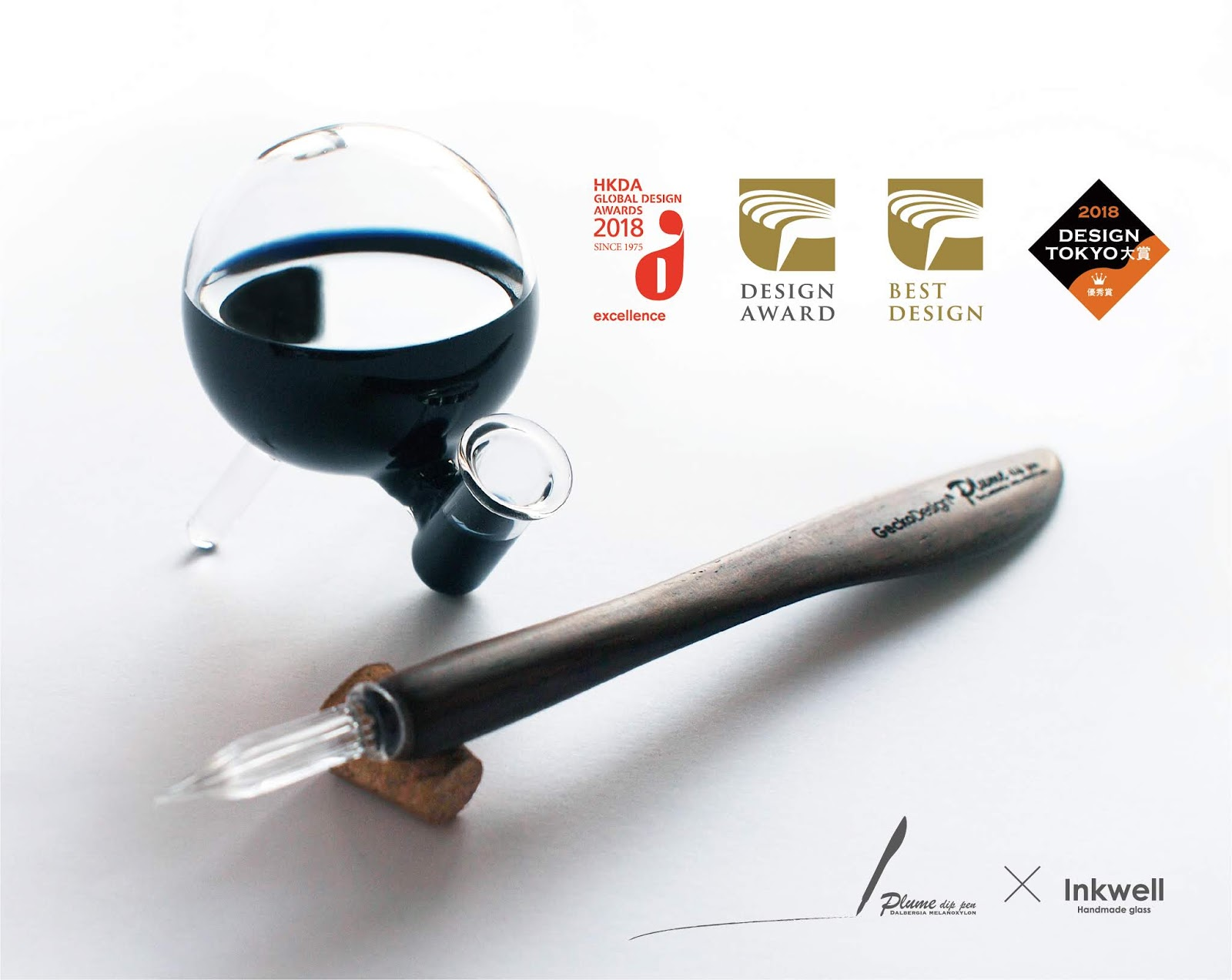 Plume Dip Pen x Inkwell - Shop GeckoDesign Life Style - Pens