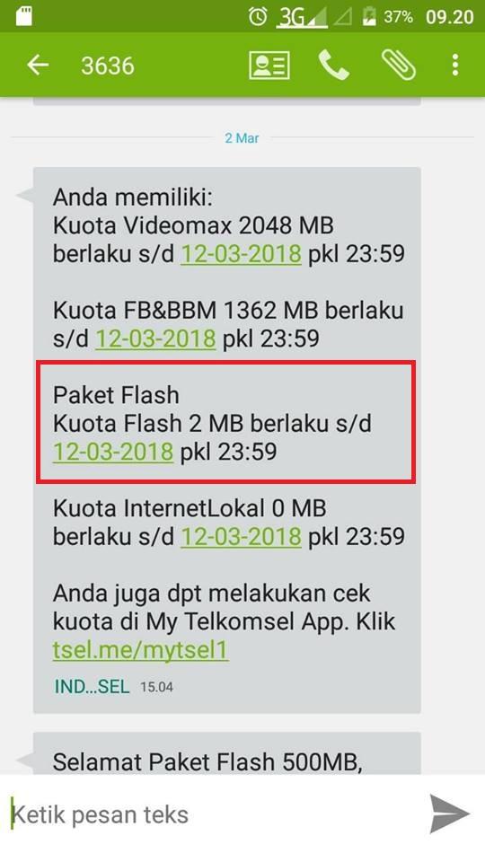 apa itu paket flash telkomsel internet lokal