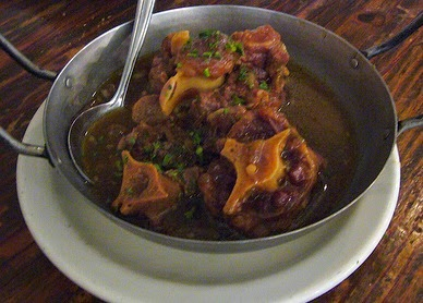 Do not be scared off by the name oxtails, the stew is delicious.