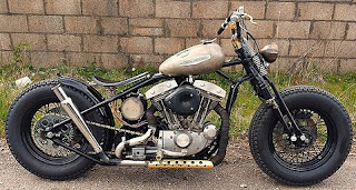 sportster bobber by sledhead custom cycles brown