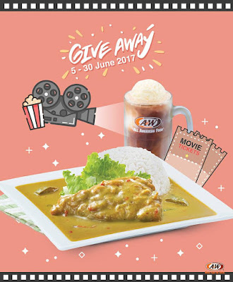 A&W Malaysia Free Movie Passes Facebook Instagram Contest