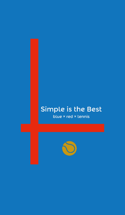 Simple is the Best 5 (blue&red&tennis)