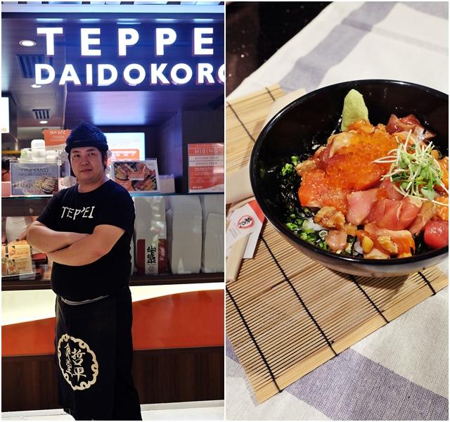 teppei daidokoro food on sticks and a mean kaisendon