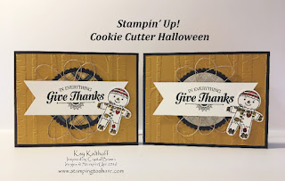 Thanksgiving Card with Stampin Up! Cookie Cutter Halloween by Kay Kalthoff Stamping to Share