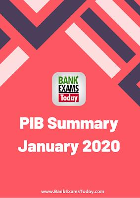 PIB Summary: January 2020