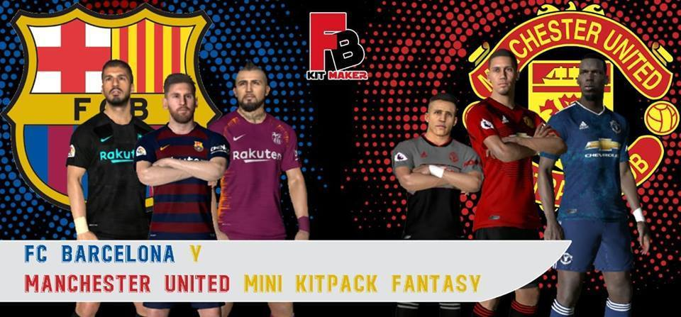 Barcelona & Manchester United Fantasy Kits - PES 2017 - PATCH PES