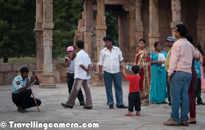 Digital Technologies for Photography have really revolutionized this world of travelers. Unlike Film-roll cameras, now Digital Cameras can shoot unlimited number of photographs which only depends upon memory-stick you are using. This Photo Journey shares the normal view we see at any tourist destination around us.Very first photograph of this Photo Journey is clicked at Qutub Minar, Delhi. This place is one of the main place to get clicked with series of pillars having wonderful carving. It's hard to see only two people in these alleys :Above photograph is clicked in front of Humayun's Tomb. This place is most popular in this campus, to get clicked in front of main monument. There is a water pond in front of the Humyaun's Tomb where you need to line up to get clicked.Lady trying to capture Qutub Architecture in her camera.Family at Qutub campus, trying to capture Delhi Memories for future..Here is a photograph showing a girl in front of North Block, ready for a memorable photograph In most parts of Delhi, you can see people with DSLRs. It's interesting to see various photographers with different visions to capture this beautiful Capital City of IndiaClick-Click everywhere @ Lodhi Garden, Delhi, INDIAA tourist trying to capture some moments around Parliament House of India. There are some gardens with colorful flowers in front of Parliament House and President's ResidenceThere are some standard poses which can easily be seen around these monuments. Specially photographs in front of Taj Mahal Digital Cameras Everywhere, pointing in different directions.This is very common scenario, when security people have to do the job of a photographer by leaving his main duties :)Digital Cameras have really changed the way people have been photographing and experimenting with light. Now everyone can afford to do experiments and experiments are always good for increasing your learning about any specific subject. That's why we are seeing relatively more talented photographers.A photograph showing some planned shoots in Qutub Minar campus. Looks like a school meet at Qutub !