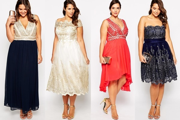 Wowing Plus Size Guest Dress Wedding Party 1