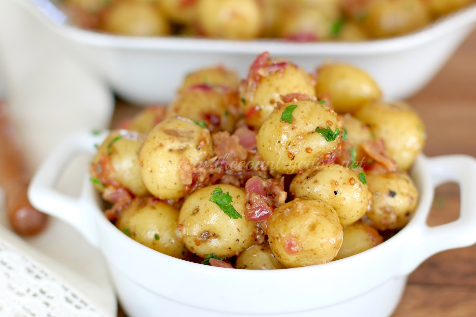 Warm Bacon Potato Salad - The Country Cook