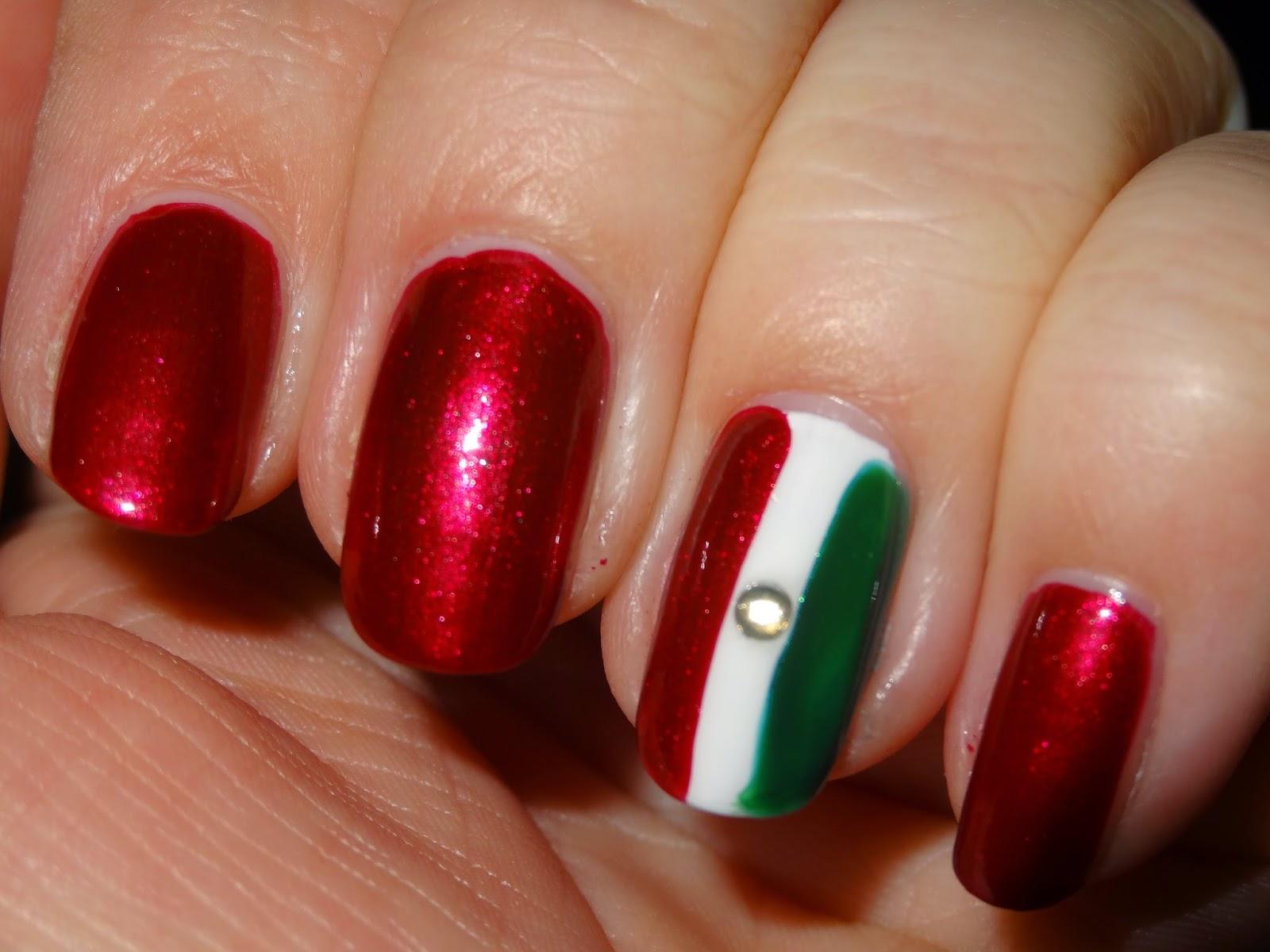 Polishlover Maybelline Cherry Diamonds Mexican Flag