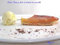 Tarta Tatin y helado de vainilla