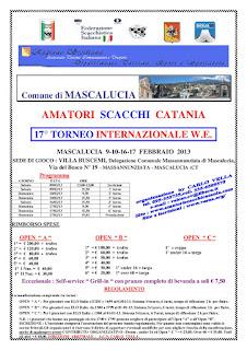 17° Torneo Internazionale WE - Amatori Scacchi Catania