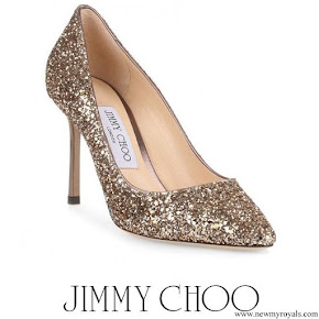 Kate Middleton wore Jimmy Choo Romy gold Pumps